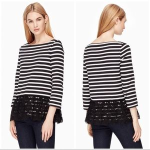 Kate Spade Boatneck Lace Top